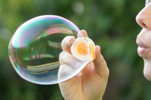 Entstehung einer Seifenblase
